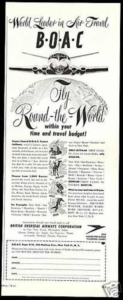 BOAC Airlines Round The World B O A C (1954)