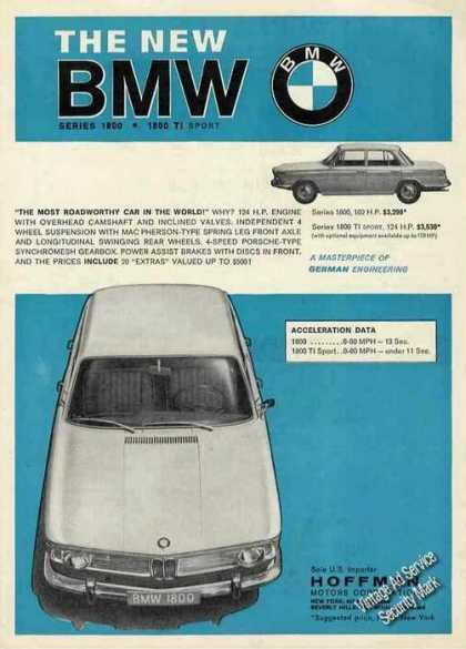 The New Bmw Series 1800 (1964)