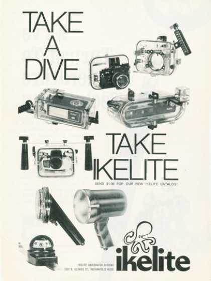 Ikelite Ad Diver Underwater Camera Photo Housing (1974)