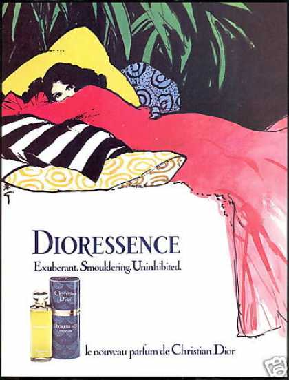 Christian Dior Dioressence Perfume Red Dress (1981)