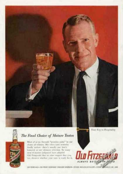 "Old Fitzgerald ""Choice of Mature Tastes"" (1957)"