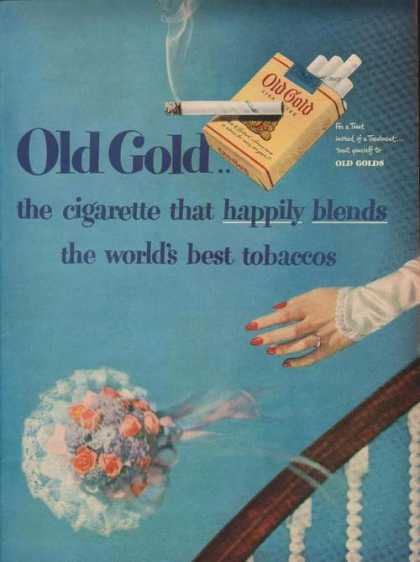 Old Gold Cigarette Happily Blends (1949)