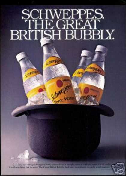 Schweppes Tonic Water British Bubbly Hat Photo (1985)