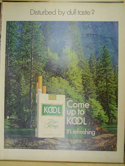 Kool Cigarettes. Disturbed by dull taste? (1970)
