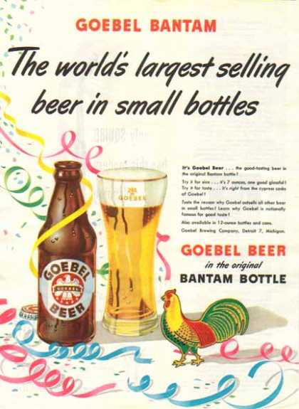 Goebel Bantam Beer – Goebel Brewing Co. – Sold (1948)