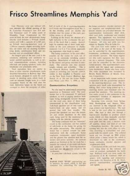 """Frisco Streamlines Memphis Yard"" Article/slsf (1957)"