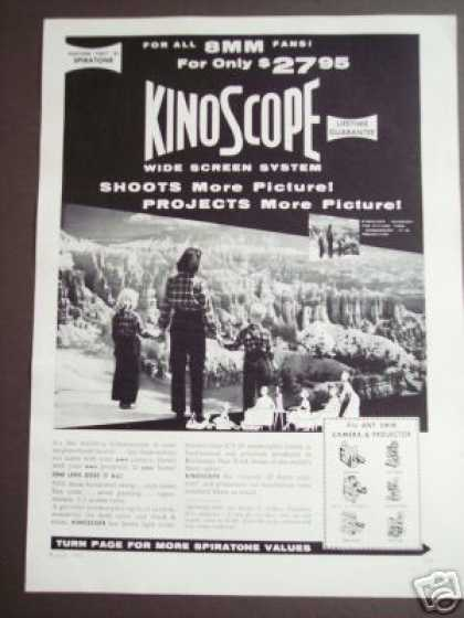 Kinoscope Wide Screen System Fits 8mm Camera (1956)