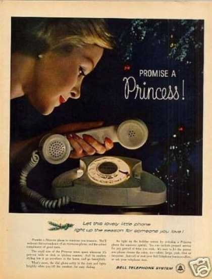 Bell Telephone Ad Princess Phone (1960)