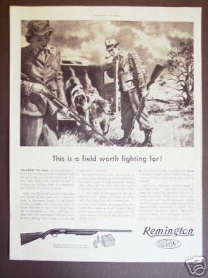 Remington Model 31 Pump Shotgun Hunting Dogs (1943)