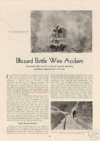 """Blizzard Battle Wins Acclaim"" Article (1936)"