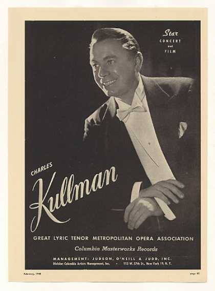 Opera Tenor Charles Kullman Photo (1948)