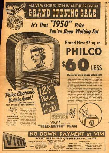 "Philco's Television – It's That ""1950"" Price You've Been Waiting For (1950)"