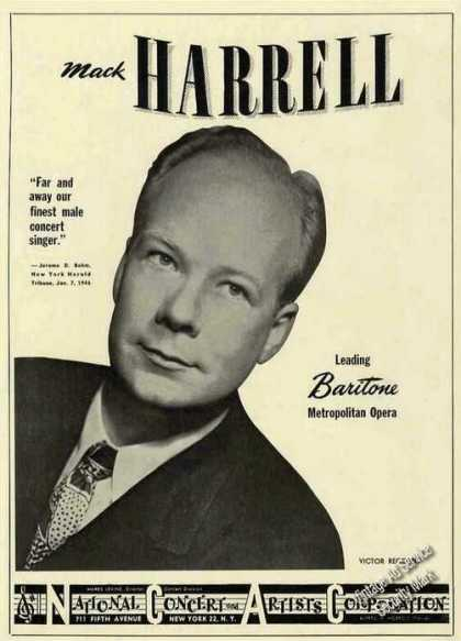 Mack Harrell Photo Baritone Opera (1948)