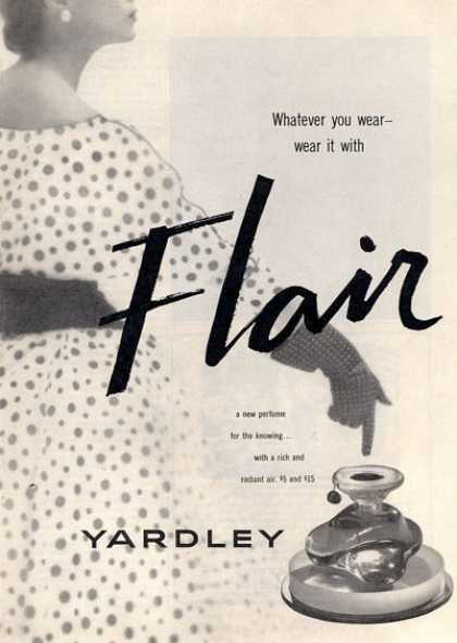 Yardley Flair Perfume Bottle (1952)