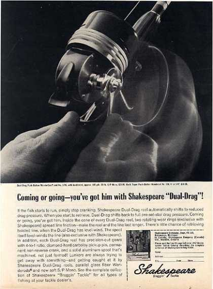 Shakespeare's Dual-Drag Fishing Reel (1962)