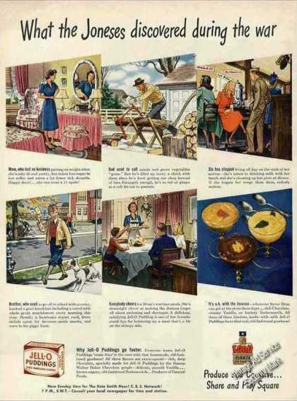 Wwii Jell-0 Puddings Collectible (1944)