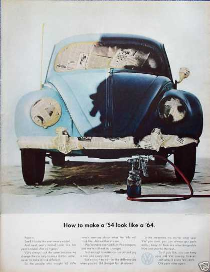 Volkswagen Beetle Bug Paint Job How To Make '54 (1964)
