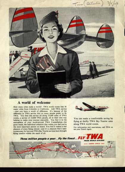 Trans World Airlines – A world of welcome (1954)