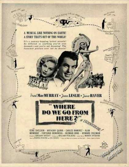 """Where Do We Go From Here?"" Movie (1945)"