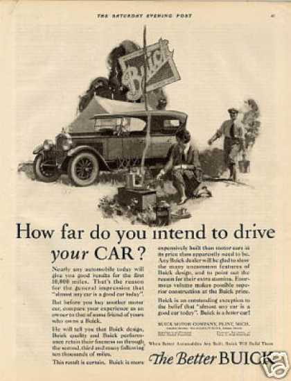"Buick Car Ad ""How Far Do You Intend... (1926)"