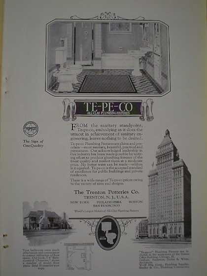 Te Pe Co Plumbing Fixtures AND Coldwell Lawnmowers Strauss Bldg Chicago (1926)