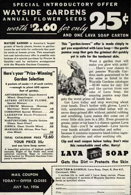 Procter & Gamble Co.'s Lava Soap – Special Introductory Offer (1936)