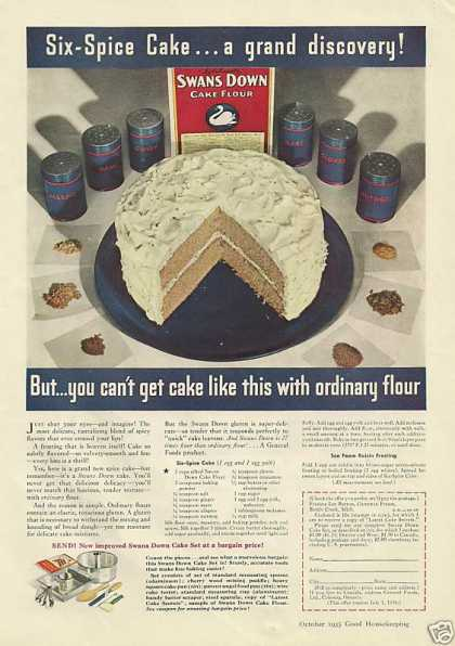 Swans Down Cake Flour (1935)