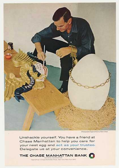 '65 Chase Manhattan Bank Nest Egg Shackled Man Eagle (1965)