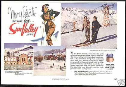 Sun Valley Idaho Resort 3 Photo Vintage (1953)