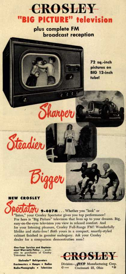 "Crosley Manufacturing Company's Big Picture Television – Crosley ""Big Picture"" television (1948)"