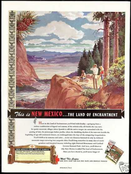 New Mexico Travel Willard Andrews Art (1949)