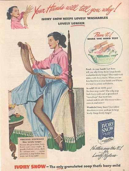 Ivory Snow's granulated soap (1948)