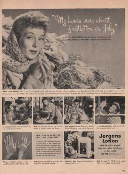 Evelyn Keys Used Jergens Lotion (1949)