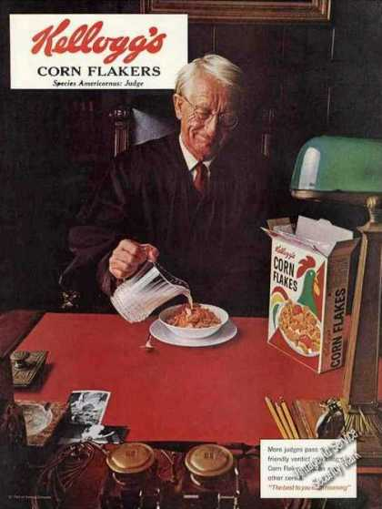 Kellogg's Corn Flakes Judge at Table (1965)