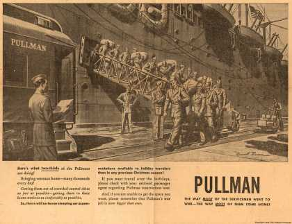 Pullman-Standard Car Manufacturing Company's Pullman Company – The war is over- but Pullman's war job isn't (1945)