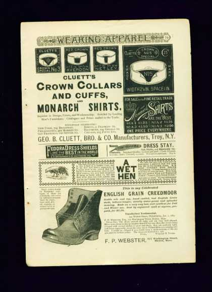 English Grain Creedmoor Shoe Webster C 1/3 Page (1890)