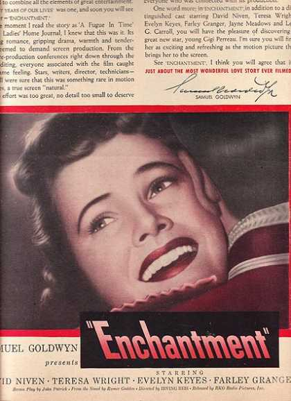 Enchantment (David niven, Teresa Wright, Evelyn Keyes and Farley Granger) (1948)