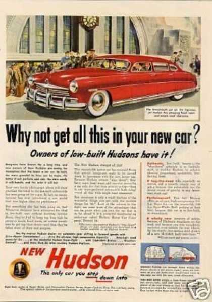 "Hudson Car Ad ""Why Not Get All... (1949)"