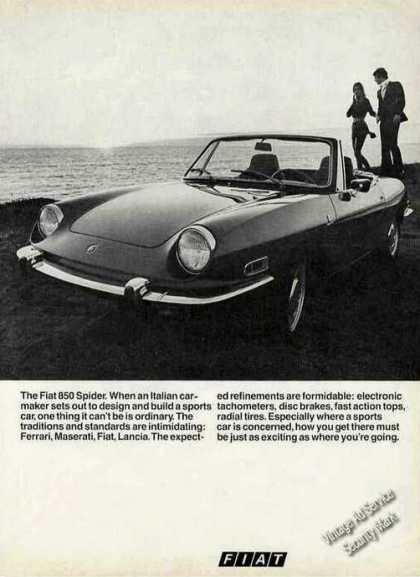 Fiat 850 Spider By Ocean Collectible Car (1970)