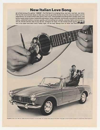 Fiat Sport Convertible New Italian Love Song (1964)