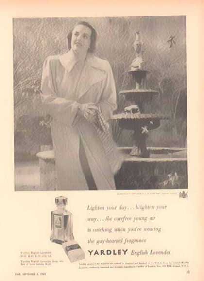 Yardley English Lavender – the gay hearted fragrance (1948)
