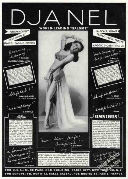 "Djanel World-leading ""Salome"" Dance Trade (1949)"