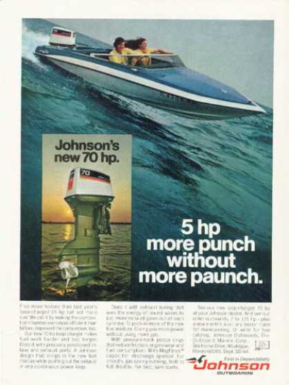 Johnson 70hp Outboard Motor Speedboat (1974)