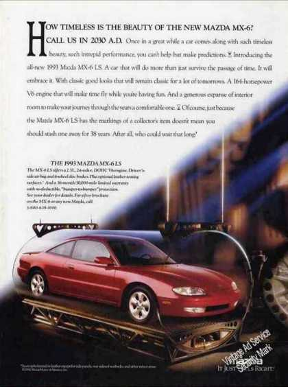 "Mazda Mx-6 ""Call Us In 2030 Ad"" Car (1993)"