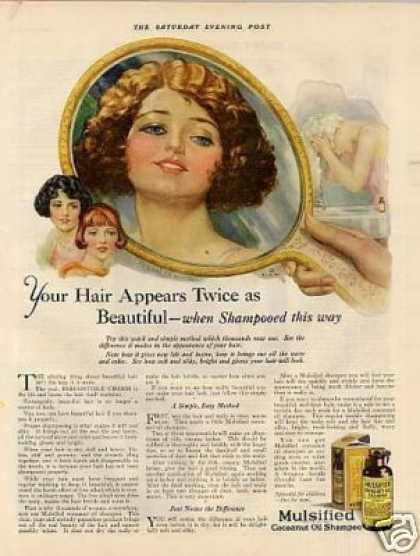 Mulsified Cocoanut Oil Shampoo Color (1925)