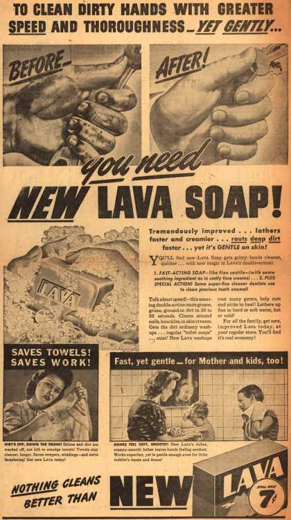 Procter & Gamble Co.'s Lava Soap – You Need New Lava Soap (1944)