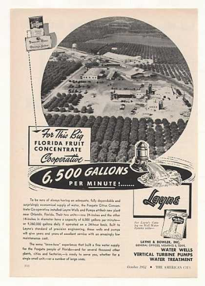 Fosgate Citrus Co-operative FL Layne Water Well (1952)