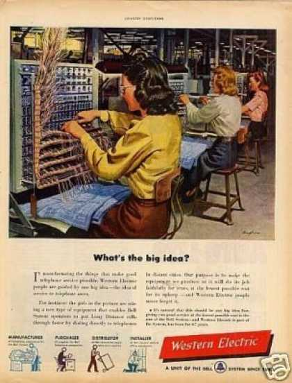 "Western Electric Ad ""What's the Big Idea... (1949)"
