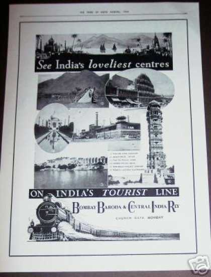 India Tourist Line Railroad Train (1936)