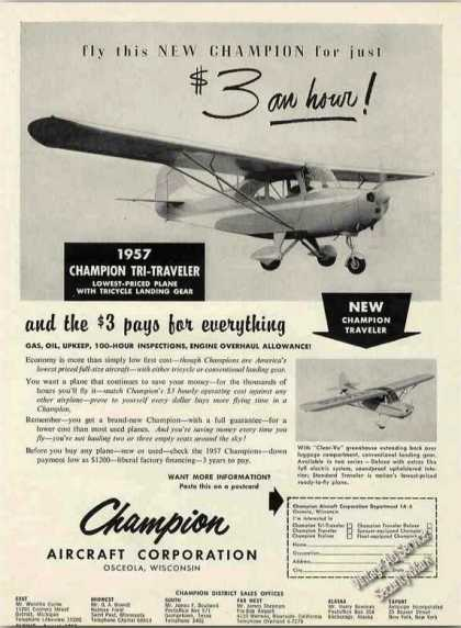Champion Tri-traveler Osceola Wi Airplane (1957)